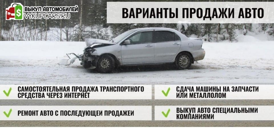 Варианты продажи авто
